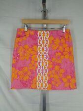 Lilly Pulitzer Originals Skirt Size 4 Floral Elephant Ten Ton Pink Orange