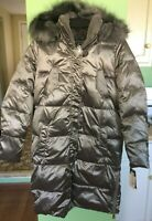 RALPH LAUREN QUILTED DOWN COAT JACKET WOMENS SIZE S SMALL CHROME NEW *151