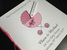 Personalised Handmade Baby Shower Card - Girl - Mum and Dad to To Be