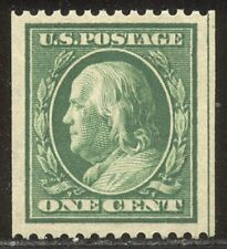 U.S. #385 Mint Vf/Xf Nh - 1c Green, P12 Coil ($100)