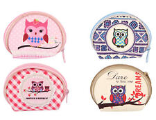 12 Owl Coin Purses - Pinata Toy Loot/Party Bag Fillers Wedding/Kids Girls