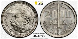 1935 Brazil Two Thousand (2000) Reis PCGS MS 66 Witter Coin