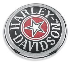 Harley Chrome Cloisonné Star Fuel Cap Medallion 83 UP ALL FXST FXR DYNA FLH
