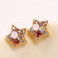 Chic Women Jewelry Earrings Colorful Crystal Rhinestone Star Ear Stud Earrings