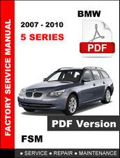 2007 - 2010 BMW 5 SERIES 535i 535i GT 535xi WORKSHOP OEM SERVICE REPAIR MANUAL