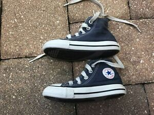 Converse Chuck Taylor All Star Toddler Kids Sneakers Blue & White Hi-Top Size 6