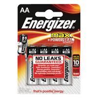 Energizer Max E91 Aa Batteries Pk 4 E300112500