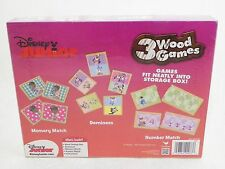 Disney Junior 3 Wood Games LearningMemory Numbers Dominoes Doc McStuffins