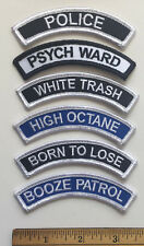 PSYCH WARD Shoulder Rocker PATCH punk costume biker psychobilly rockabilly MC