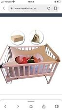 Safety Newborn Baby Hammock for Crib Strong Adjustable Straps Breathable Net