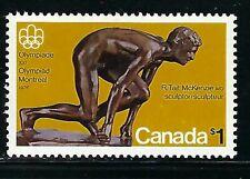 CANADA - SCOTT 656 - VFNH - OLYMPIC SCULPTURES - THE SPRINTER - 1975