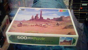 "80s Whitman Jigsaw Puzzle Monument Valley Arizona 16"" x 20"" (600 pc) No. 4648-24"