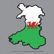 Wales - Welsh Map Flag Sticker - Car - Laptop - Macbook Notebook - 2951