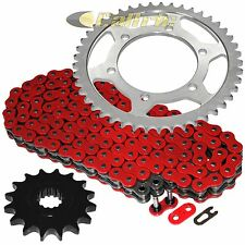 Red O-Ring Drive Chain & Sprocket Kit Fits YAMAHA R6 YZF-R6 2006-2016