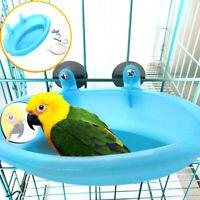 Kleiner Papagei Vogel Badewanne Haustier Käfig Zubehör Vogel Spiegel Blau