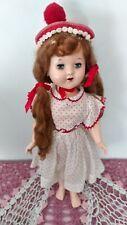 "Vintage Hard Plastic Doll Marks Are 180 Bobble Head 1950,S 17"""