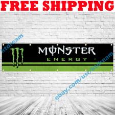 Monster Energy Drink Banner Flag 2x8 ft Car Racing Garage Wall Sign Decor 2019