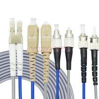 100M FC/SC/LC/ST UPC APC Duplex Multi-Mode Armored Fiber Patch Cord Fiber Cable