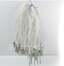 "10pcs white charm Organza Ribbon voile cord Necklace 18"""