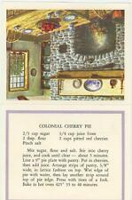 COLONIAL RED CHERRY PIE RECIPE ART PRINT CARD 1 AMISH GARDEN FLOWERS COWS CARD