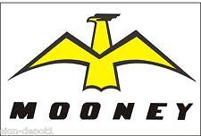 A076 Mooney Airplane banner hangar garage decor Aircraft signs