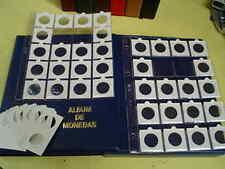 100 Hojas folio para 20 cartones + 2000 cartones monedas surtidos, a elegir.