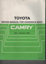 TOYOTA CAMRY SV1 SERIES CHASSIS & BODY MANUAL OCT. 82