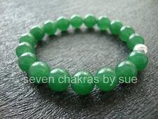 Feng Shui - 8mm Jade Mala Bracelet + 925 Sterling Silver