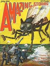FUMETTI COVER storie sorprendenti Wells Verne GIGANTE FLY art print poster bb7795