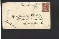 RED BLUFF, MONTANA COVER,TERRITORIAL.MANUSCRIPT. MADISON DPO:1874/01 VERY SCARCE