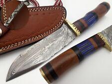 LOUIS SALVATION HANDMADE DAMASCUS ART HUNTING SKINNER DAGGER KNIFE WALNUT HANDLE