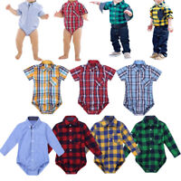 Infant Newborn Baby Boys Girls Jumpsuit Romper Bodysuit Clothes Outfit T Shirt
