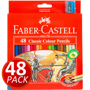 48 FABER-CASTELL Classic Colour Pencil Colouring Coloured Pencils + SHARPENER