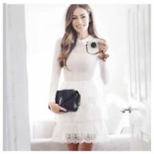 SELF-PORTRAIT Tiered Scallop lace dress . size Uk 12. BNWT. Authentic