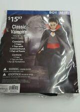 CLASSIC VAMPIRE, BOY Medium M 8, NEW  COSTUME HALLOWEEN Scary Dracula