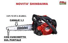 """MOTOSEGA SHINDAIWA 251 TCS LAMA CARVING 10"""" NUOVA SPESSORE BARRA E CATENA 1,1"""