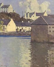 Kinsale Harbour, Paul Henry pronto montato stampa vintage, 1940 SUPERBA