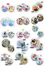 """22"""" QUALATEX BUBBLES See Through Round Helium Birthday Party Character Balloons"""