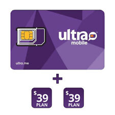 Ultra Mobile  00004000 Preloaded $39 Sim Card With 2 Months Services Included