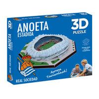 Puzzle 3D Estadio Anoeta (Producto Oficial Real Sociedad) - Montaje Rápido