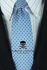 Lord R Colton Studio Tie - Arctic Blue Geometric Silk Necktie - $95 Retail New