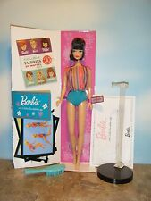 MY FAVORITE 1965 AMERICAN GIRL BARBIE, COA, BOOKLET, CARD & DOLL STAND
