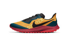 Nike Air Zoom Pegasus 36 Trail Gtx Goretex Gold Black Ct9137-700 sz 7 Running