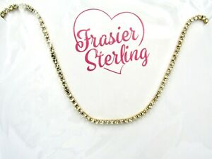 Frasier Sterling Choker Necklace IF YOU HAD MY LOVE. 14K Gold Plated w/ CZ - NEW