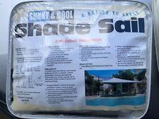 WATERPROOF SHADE SAIL SQUARE IN CREAM 4x4m