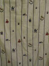 """Boys Cream & Blue Vintage Mothercare Nursery Curtains 33"""" across each & 71"""" long"""