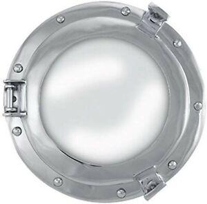 Maritime Porthole Mirror - Aluminium Nickel Plated