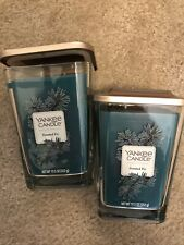 Yankee Candle Frosted Fir Lot Of 2 Large 2-Wick Square Candle New