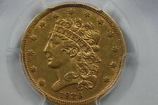 1838 Classic Head Five Dollar Gold Piece, Old Gold, Half Eagle, $5 PCGS XF 45