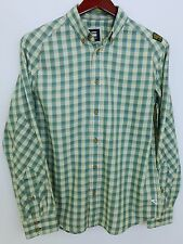 AA447 Men G-Star Raw Denim Green Check Cotton Casual Shirt Size L